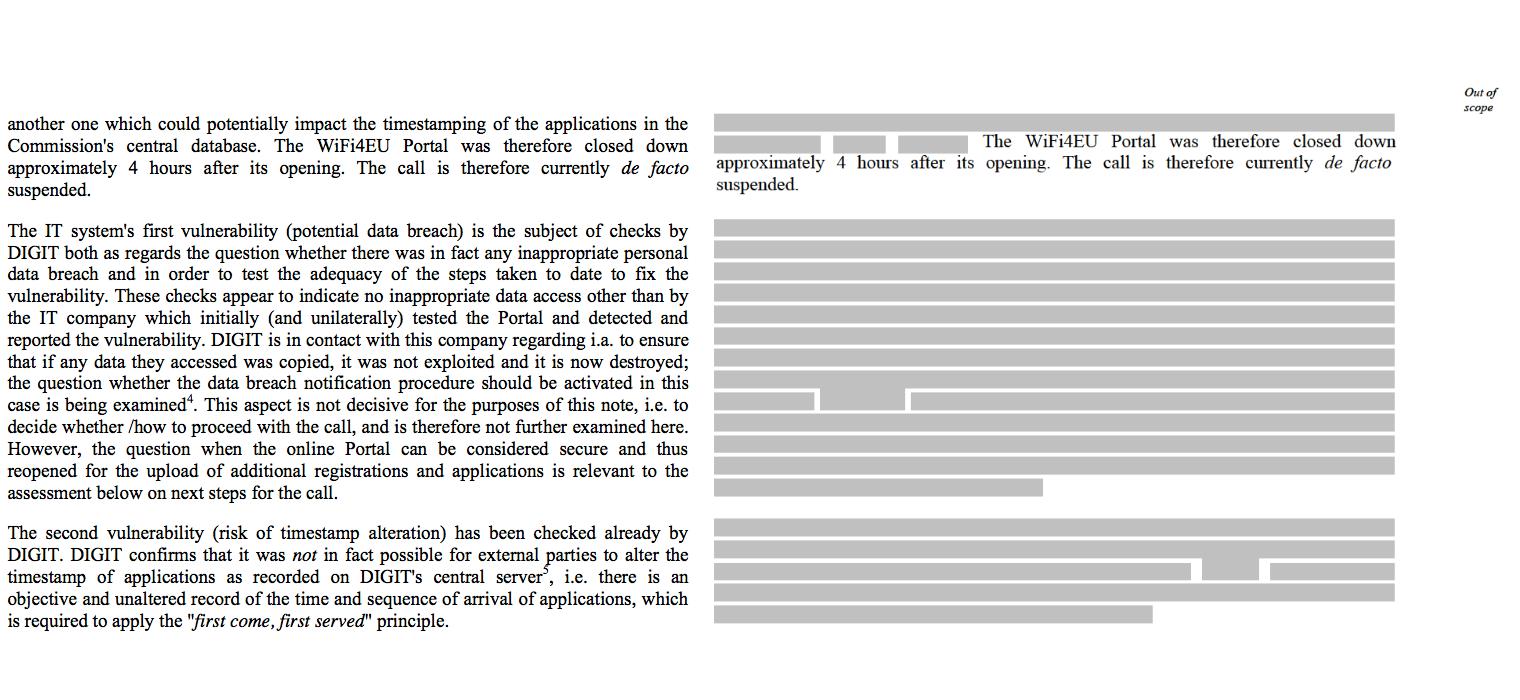 """Esquerra: document flitrat l'octubre. Dreta: document publicat el mes de juny per """"New Europe""""."""