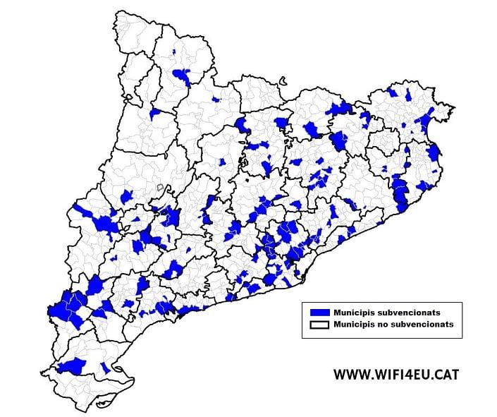 Mapa Municipis Catalunya Subvencionats
